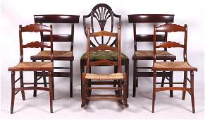 Estate Lot A Variety of Six Chairs