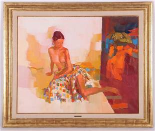 Nicola Simbari (Italian 1927 - 2012) Oil on Canvas