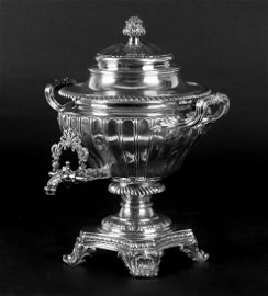 A George IV Silver Hot Water Urn by Richard Sibley