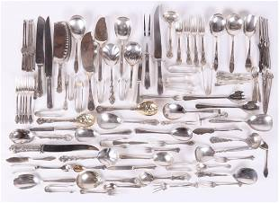 A Large Group of Silver Plated Flatware