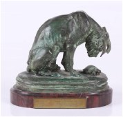 Alfred Jacquemart (1824 - 1896) Bronze, Dog