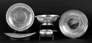 Five Pieces of Sterling and Silverplate Hollowware