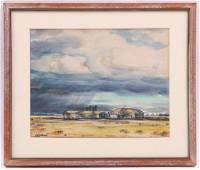 Peter Hurd (American 1904 - 1984) Watercolor