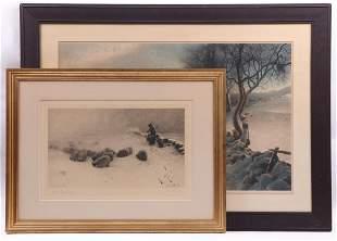 Joseph Farquharson Scottish 1846 1935 Engravings
