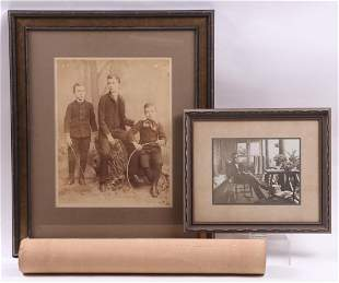 Three Photographs Late 19th Early 20th Centuries