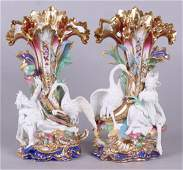 Pair of Fine 19th Century Old Paris Porcelain Vases