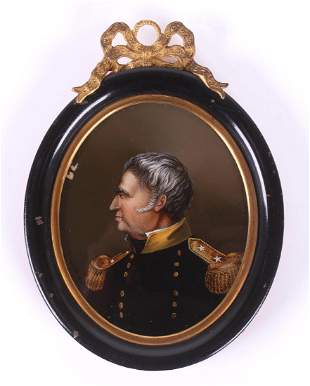 A Mourning Miniature of Zachary Taylor c. 1850