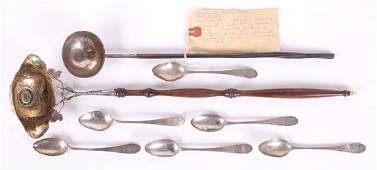 A Group of 18th and 19th Century Silver Flatware
