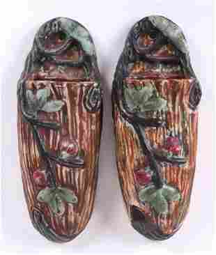 Pair of Weller Pottery Wall Pockets