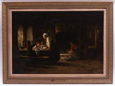 Paul Seignac (French 1826 - 1904) Oil on Canvas