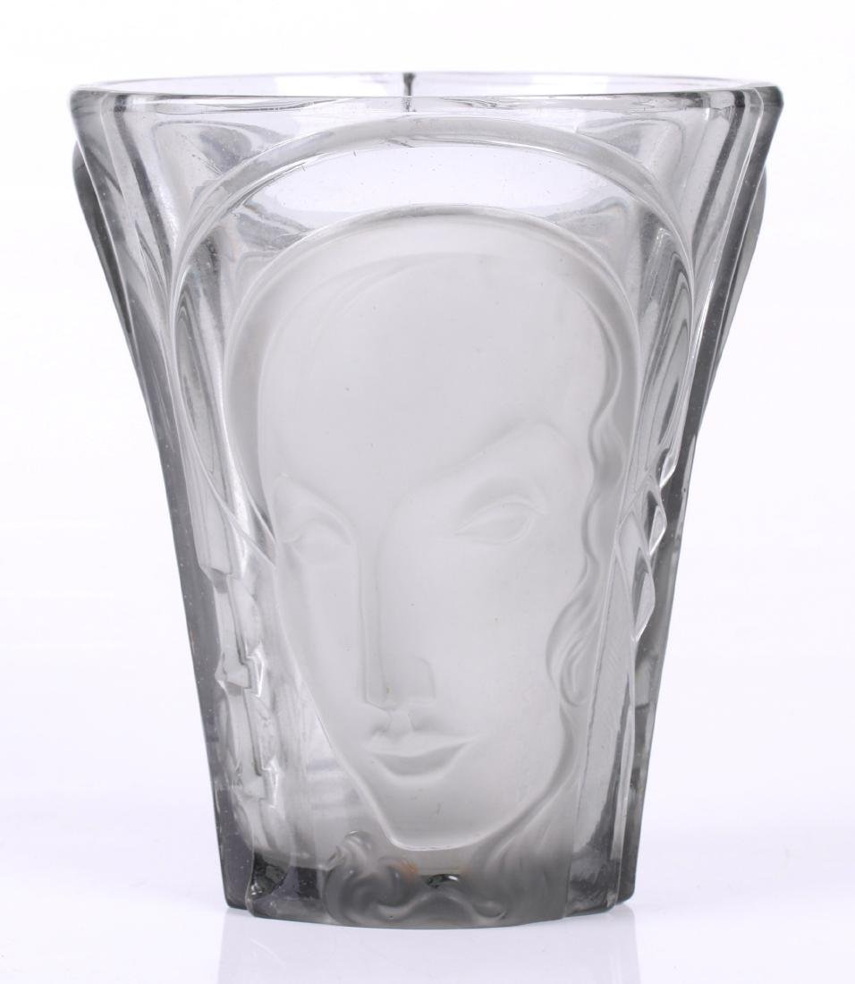 A Walther & Sohne Art Deco Glass Vase