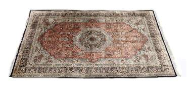 RugCarpet Postwar Silk Iranian Example