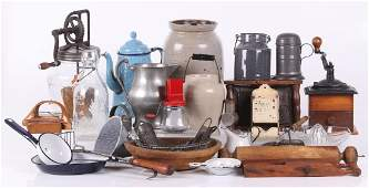 Group of Antique Kitchen Items