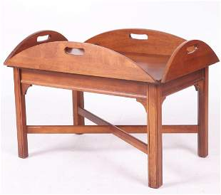 Modern Cherry Butlers Tray Table