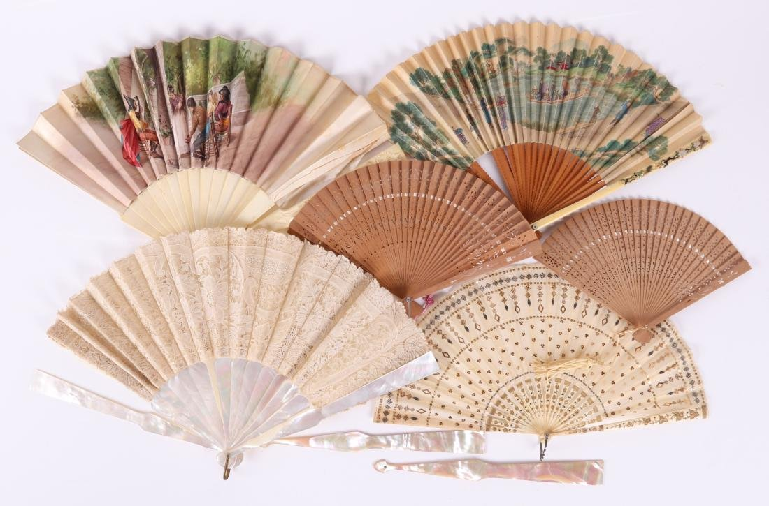 A Group of Estate Antique Ladies Fans