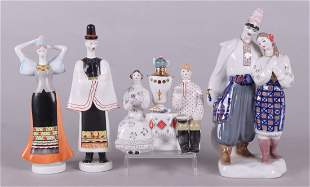Four Porcelain Figures Hungarian and Ukrainian