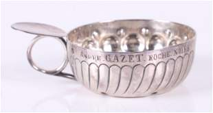 A French Silver Tastevin, 19th Century