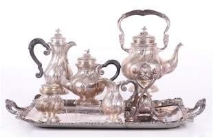 800 Silver Five Piece Tea/Coffee Set
