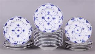 Royal Copenhagen Blue Fluted Porcelain, Early Mark