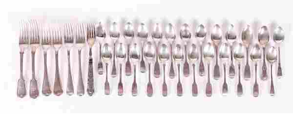 Georgian and Victorian Sterling Forks and Teaspoons