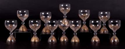 Bjorn Wiinblad Rosenthal Magic Flute Wine Glasses