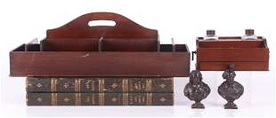 Estate Lot: Standish, Tool Caddy, Busts, Backgammon