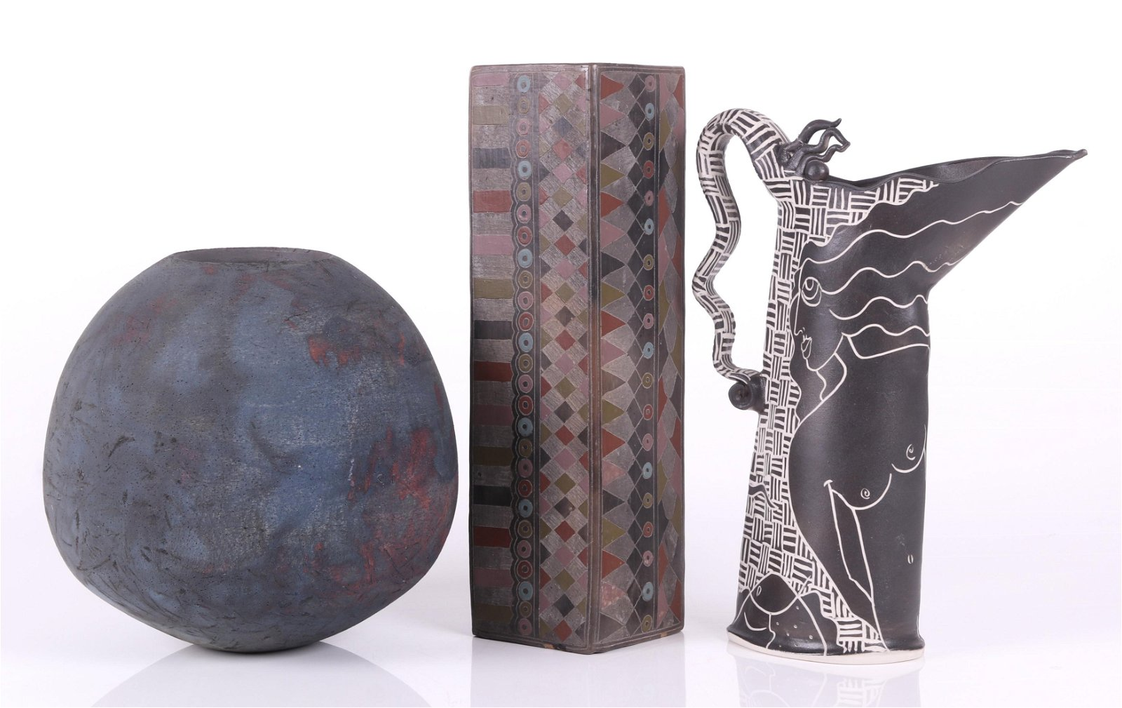 Three Pieces of Modern Pottery