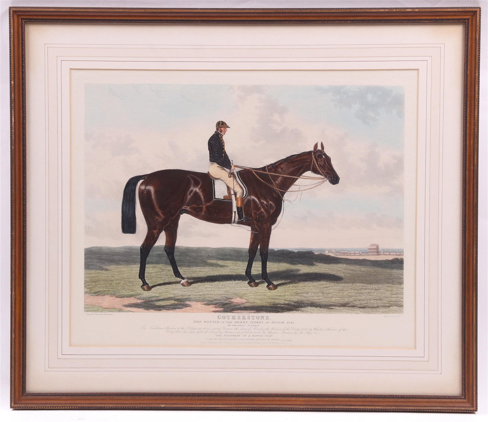 English Racing Horse Engraving After Harry Hall