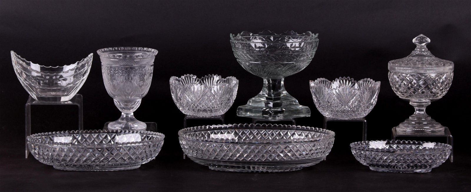 A Group of Anglo Irish Cut Glass