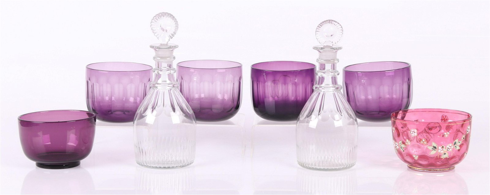 A Group of 19th Century Glass