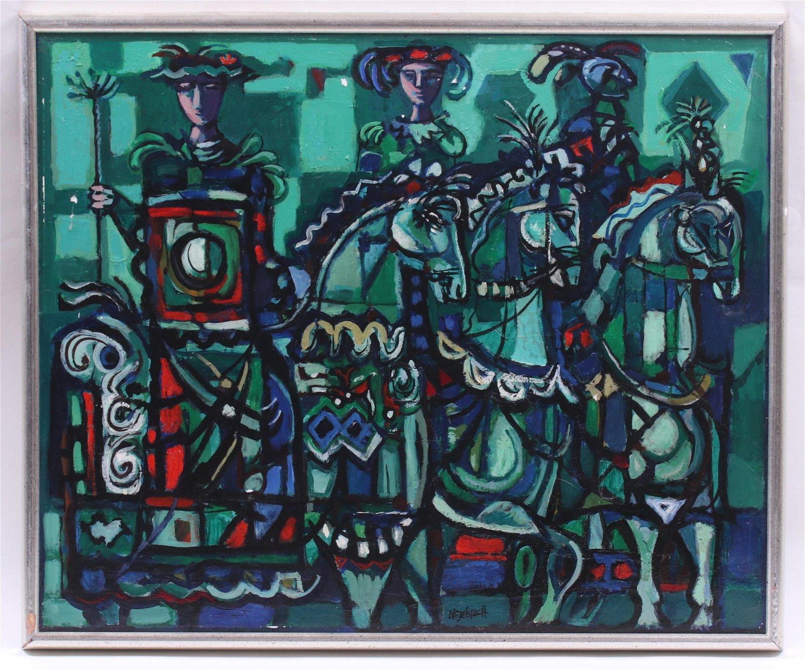 Gerard Negelspach (American b. 1927) Oil on Canvas