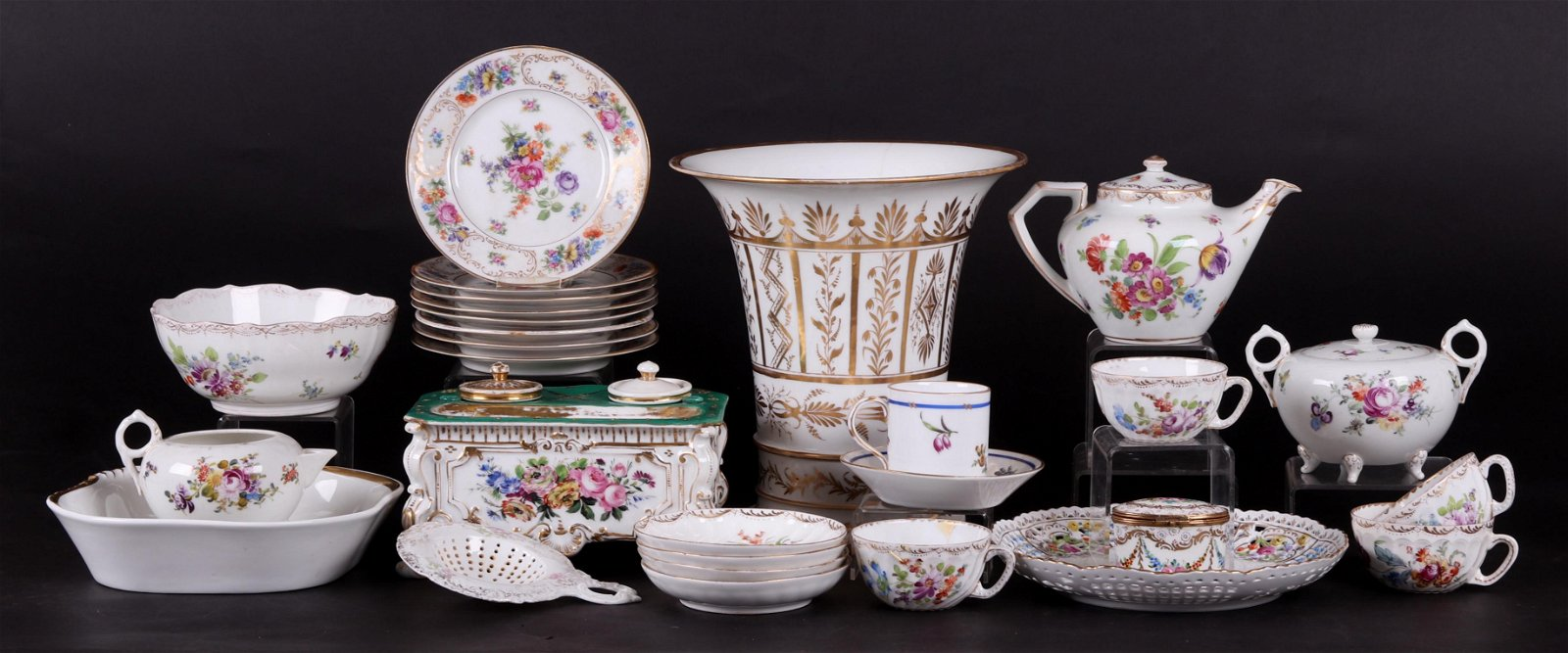 Group of German, Austrian, and French Porcelain