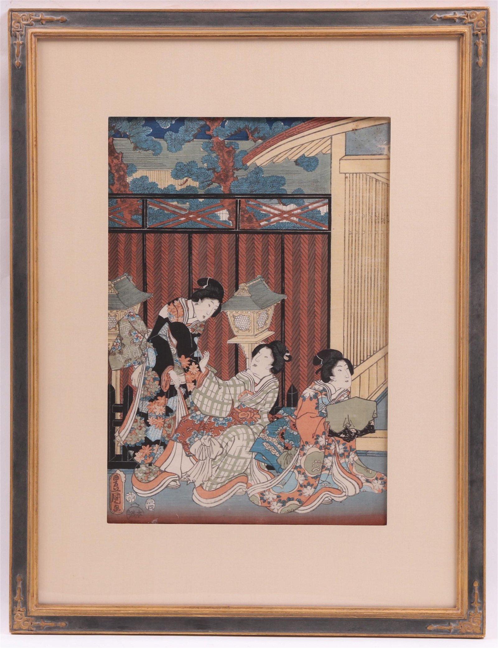 Kunisada (Japanese 1786-1864) Ukiyo-e Woodblock
