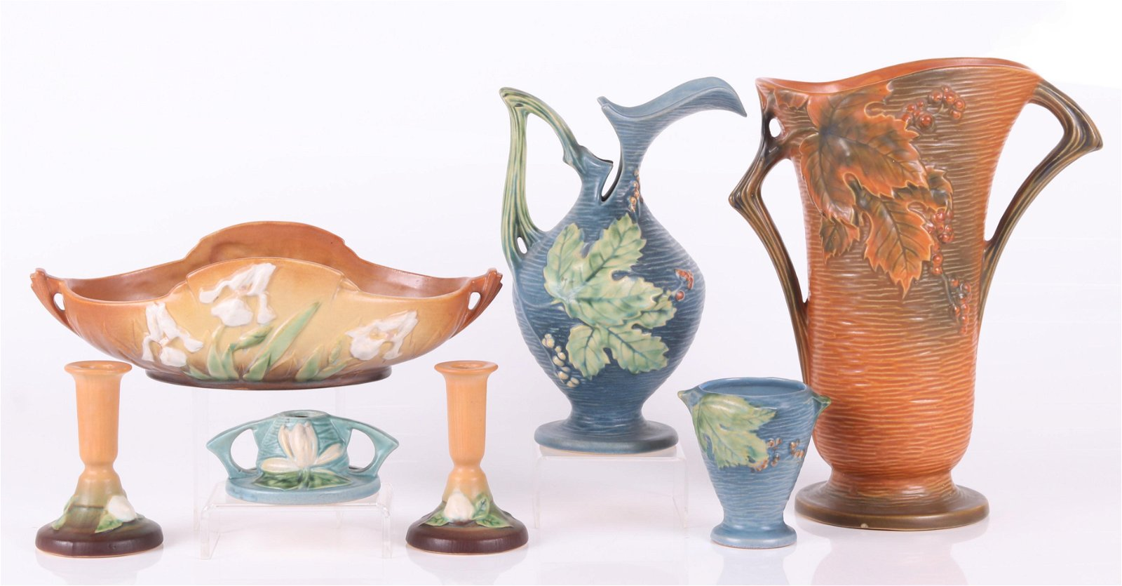 Seven Roseville Pottery Pieces