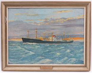 Print on Canvas of a Ship
