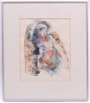 Ted Katz American b 1937 Watercolor