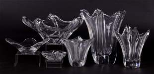 Six Pieces of Daum Glass