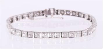 A Vintage Diamond and Gold Tennis Bracelet