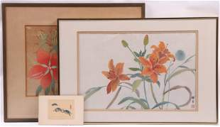 Chinese School 20th Century Three Watercolors