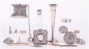 Sterling Silver DeskVanity Items Including Tiffany