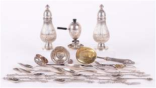 French Italian Moroccan and Maltese Silver Items