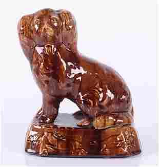 A 19th Century Rockingham Glaze Spaniel