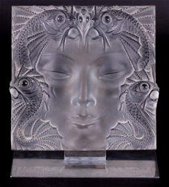 """Lalique """"Masque de Femme"""" Plaque"""