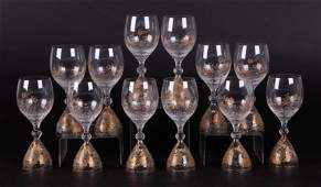 Bjorn Wiinblad Rosenthal Magic Flute Water Goblets