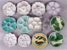 Group of Oyster Plates French Faience Plates