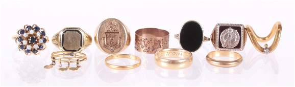 Estate Jewelry, Group of Gold Rings