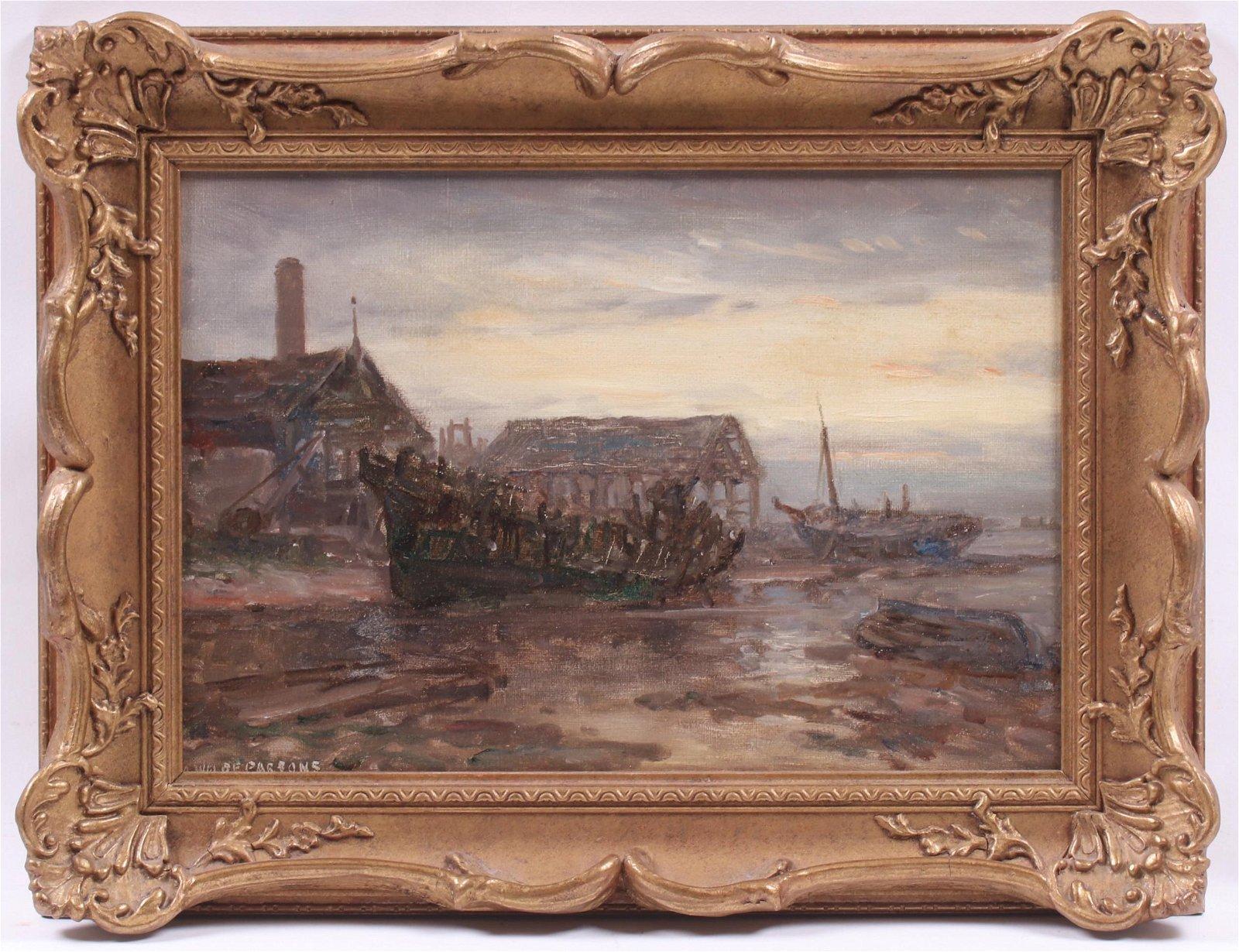 Arthur Wilde Parsons (UK 1854-1931) Oil on Board