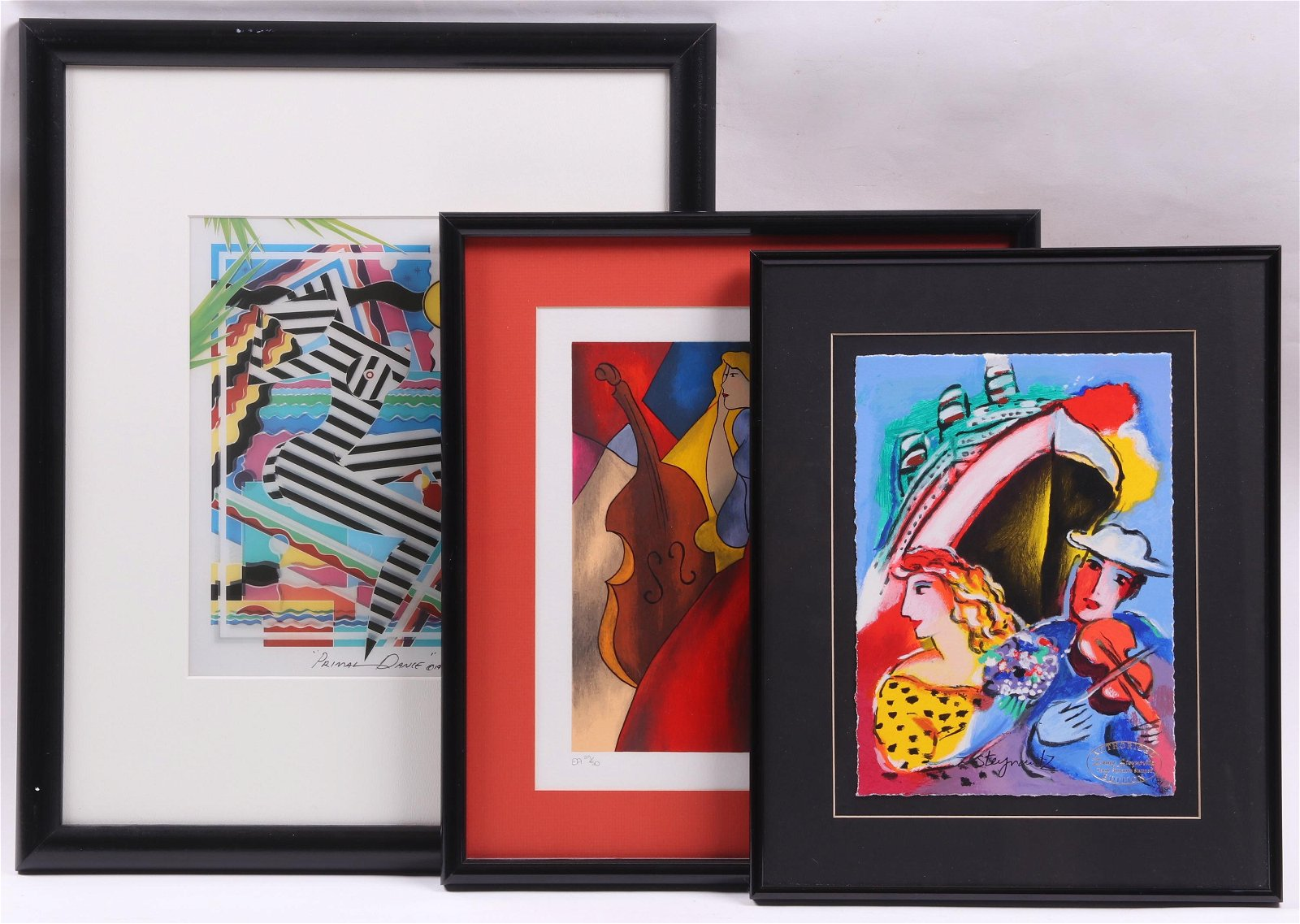 Three Signed Modern Abstract Prints