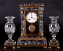 A 19th Century French Cut Glass Clock