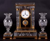 A 19th Century French Cut Glass Clock